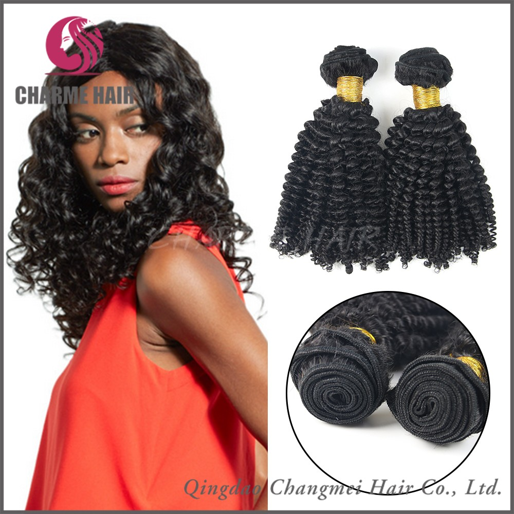High Quality 6A Kinky Curly Mongolian Human Hair Extensions