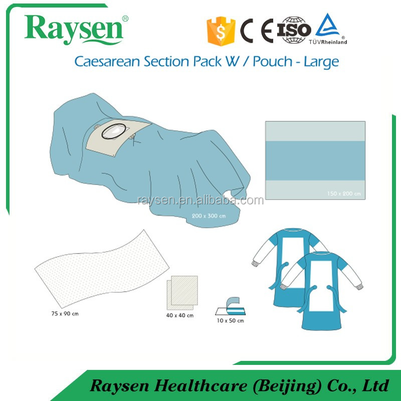 Disposable Non woven Sterile Cesarean Section Surgical Pack