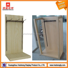 wooden fashion shop belt display stand for retail