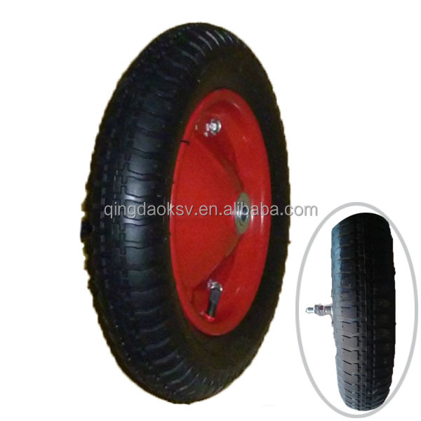 4.00-8 Wheelbarrow tire with <strong>axel</strong>