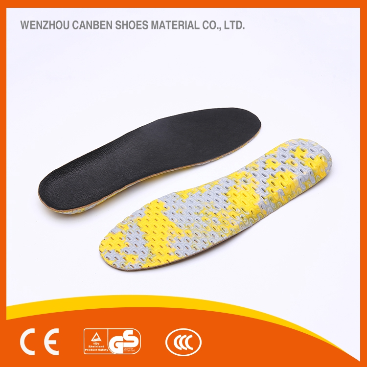 Customized high quality EVA sport thermal changeable bamboo charcoal shoe soles