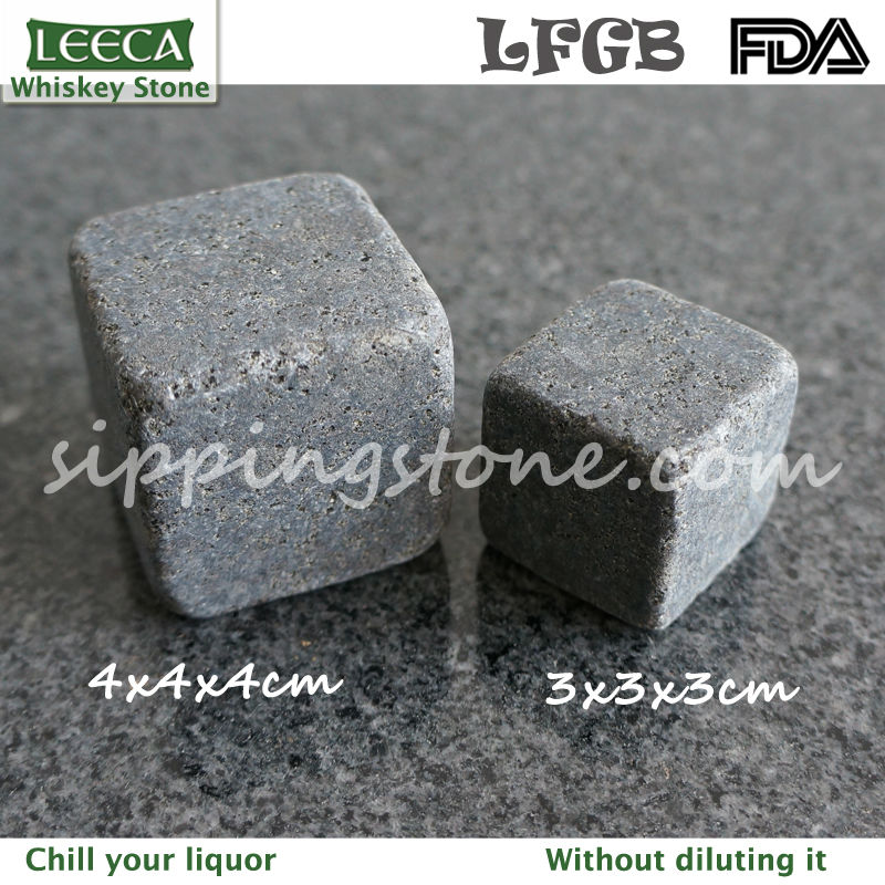 4x4x4cm and 3x3x3cm black whiskey rock | whiskey stone max | large whiskey stone