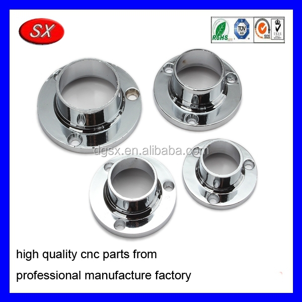 Stainless steel aluminum flange seat curtain rod closet header pipe hanger for bracket