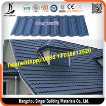 Long span 50 years warranty monier villa roof price Z120g stone coated steel roof tile Philippines