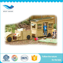 Factory wholesale hot selling wooden gifts kids cheap outdoor wooden playhouse