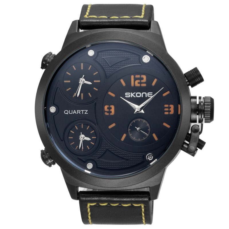 SKONE Japan Movt Quartz Leather Watch