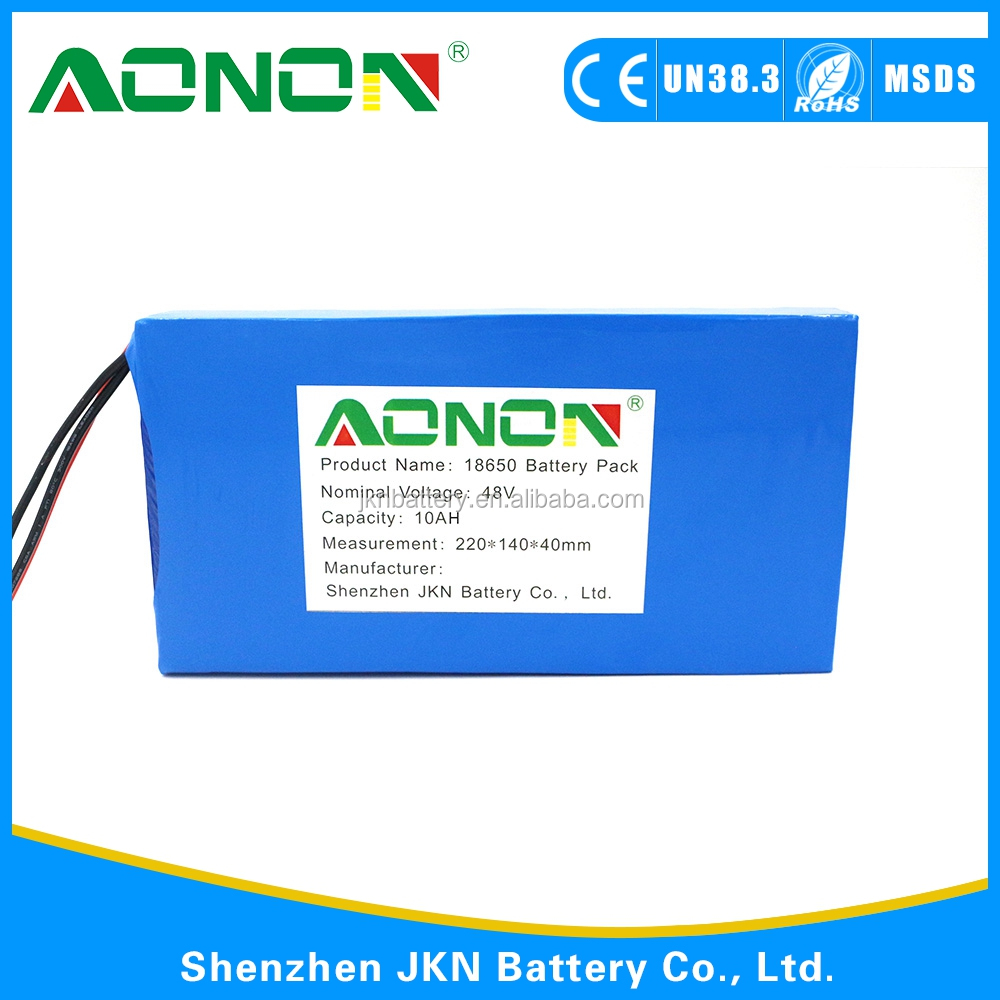 48v 10mAh- 40Ah 4800mAh 18650 Rechargeable li ion battery pack with SGS, UL,UN 38.3 ,CE ,ROHS certificates