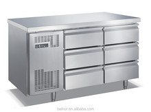 TC0.3N6W Stainless steel refrigerated chef base with 6 Drawers