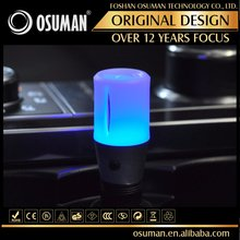 Portable colorful LED light air conditioning oil diffuser for car