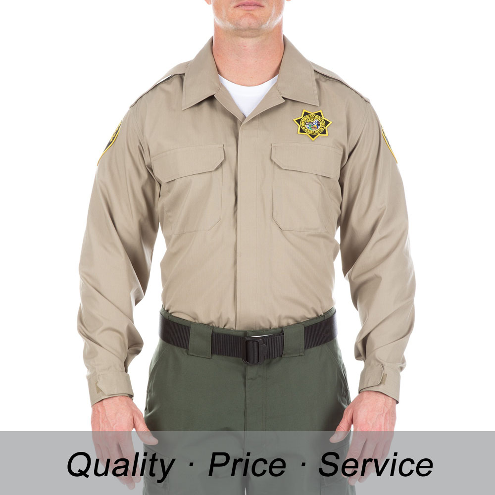 WU-K120 cotton security uniform shirt long sleeve shirt for men