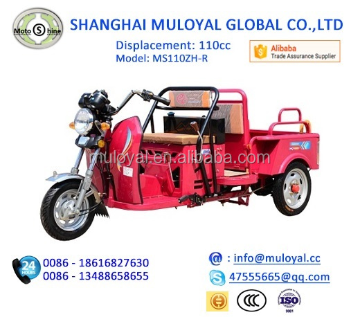 Hot Sale Chinese Mini Motorcycle 110cc Tricycle Motor Tricycle for Cargo