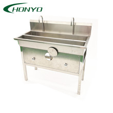 Industrial Food Processing Factory Knee Operated Hand Washing Sink