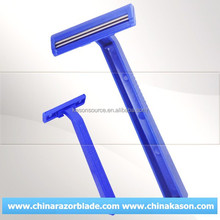 twin & triple blade shaving China ladies single edge and double blade razor wholesale (personal care & Medical use)