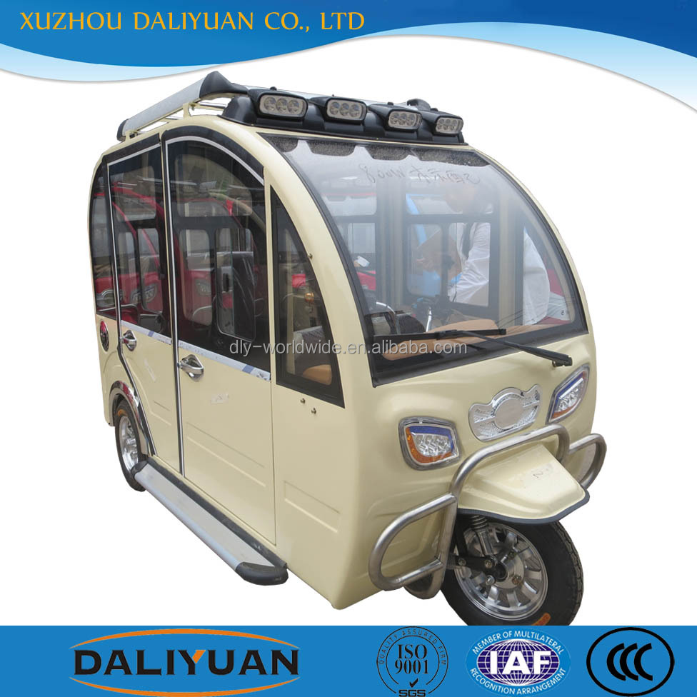 Daliyuan electric closed body second hand tricycles for sale china tricycles for transportation