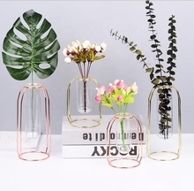 Nordic glass tube hydroponics geometrical flower stand