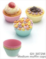 Silica gel Round MIni Muffin cups moulds baking tools
