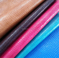 Eco friendly crocodile patten pu synthetic leather for shoes and bags
