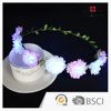 Unique Design By Self-Factory Copyright Occupied Artificial Carnation Flower LED Light Decoration Flower Wreath for Kids