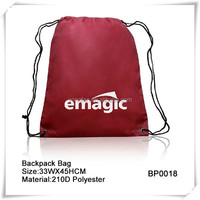 2015 Newest Style Backpack School Bag Drawstring Type For Kids