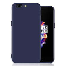 good hand feel candy tpu case for one plus 5 case back cover, colorful matte soft cover for oneplus 5