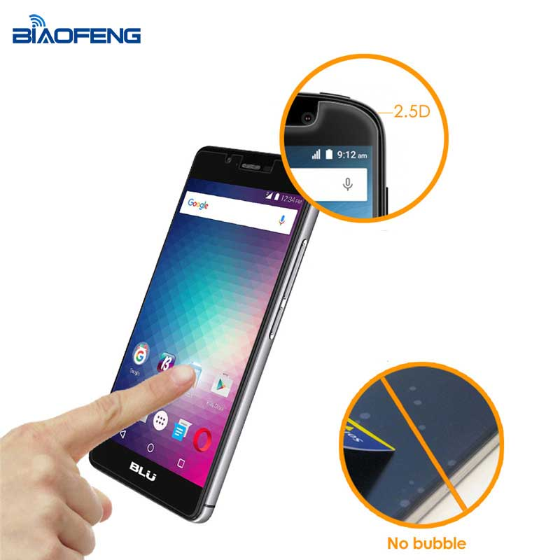 custom made premium anti-fingerprint tempered glass screen protector for blu r1 hd tempered glass screen protector sheet
