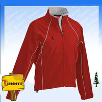 Ladies polar fleece jacket with elastic cuff