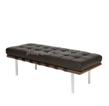 Barcelona bench/leather barcelona bench/white leather bench