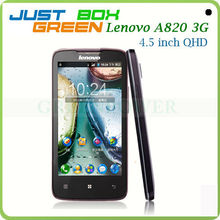 High Quality Lenovo Mobile phone A820 Quad core 4.5 inch IPS Screen 1GB/4GB 2G 3G Dual sim Card WiFi GPS Back 8Mp Camera.