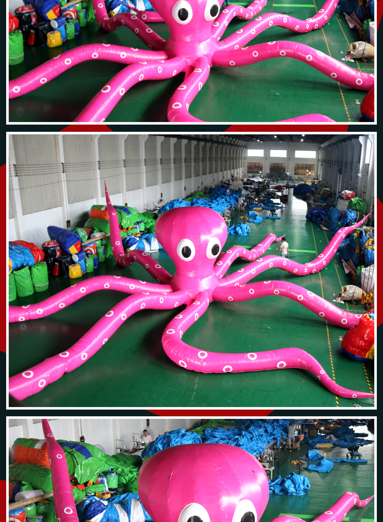Customized inflatable squid cartoon characters, model for advertising