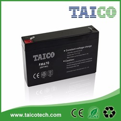 Taico 7AH Rechargeable Storage Batteries 6V