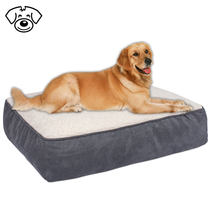 Latest designs plush memory foam insert pet bed for dog or cat