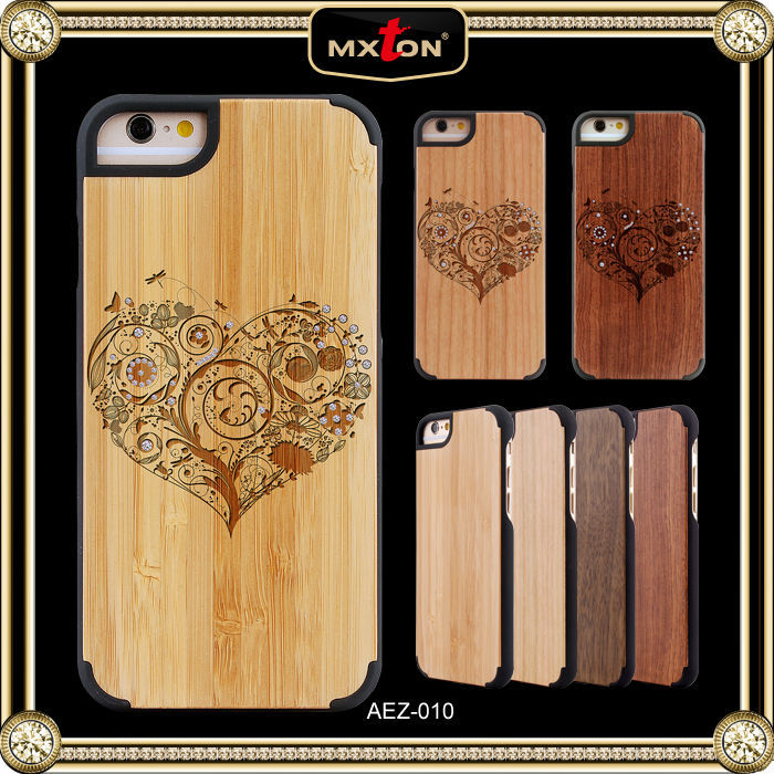 New Pattern Diamont Wooden For I Phone5 Cases And Covers