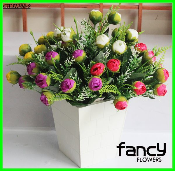 artificial flowers with vase, artificial resin flowers, artificial orchid flower