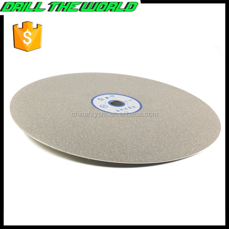 200mm 8 inch grit #60-#3000 electroplated diamond polishing disc for lapidary