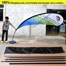 2016 hot sale fiberglass rod polyester fabric custom design advertising outdoor beach flag pole