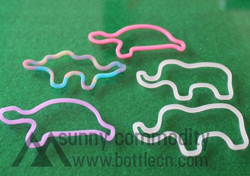 sc070105 Animal shape pack multicolor silicone band