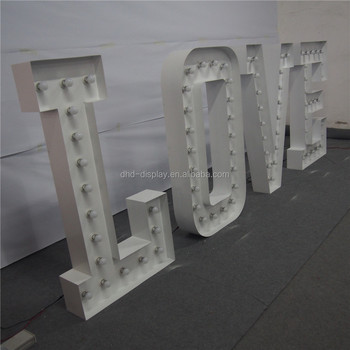 Best Prices for LOVE Decorative Illuminated Led Letter Sign