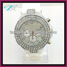 TSR Rhinestone custom watches with best quality Shenzhen case factory made in China popular in Europe geneva watches