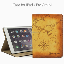 Minandio brand Wholesale high quality book design leather case for ipad mini/ipad 2