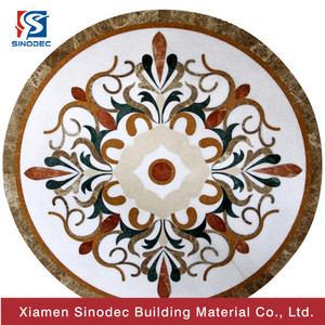 Natural stone water jet decoration engineered parquet flooring design the hotel corridor water-jet pattern marble water jet