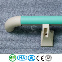 Hospital corridor and stair round pvc and aluminium handle bar