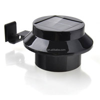 Round home solar small led solar fences lights solar outdoor lighting