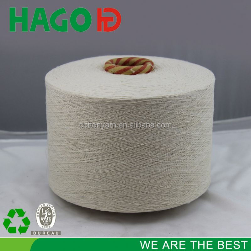 Ne6-24s regenerated oe 100% cotton yarn waste
