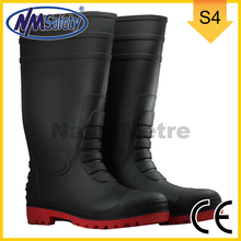 NMSAFETY high cut pvc boots men clear pvc rain boots safety pvc boots