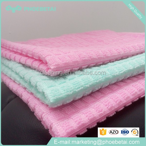High water absorption 8 or 10 times better personalized cleaning microfiber cloth