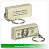 PU Material Promotional $100 Bill Stress Reliever Key Chain As Advertising Gifts