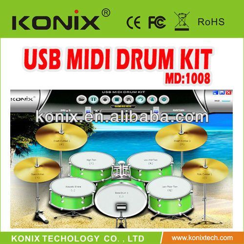 electronic drum cymbals for study and practise