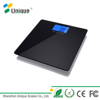 Digital Body Weighing 180kg Medical Bluetooth Bathroom Weight Scale With 6mm Tempered Safety Glass Platform