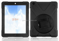 2015 new design shockproof case for iPad 234 with 360 degree rotating stand