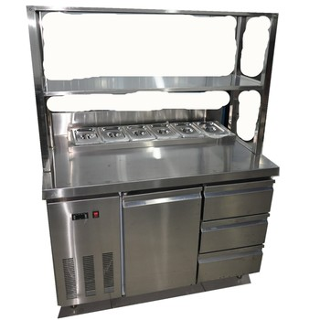 Stainless Steel Counter Fridge / Counter refrigeration equipment